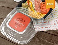 Free Food Box Branding Mockup