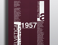 Typographic Poster. Helvetica Typeface.