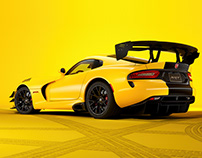 Dodge Viper ACR - CGI & Animation & Retouching