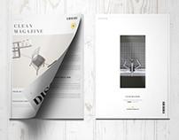 Clean Minimal Elegant Magazine