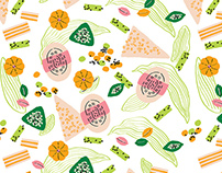 Hakka desserts-Print pattern design