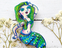 Brooch mermaid Marlen