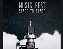 Poster Scape to Space - Music Fest