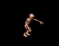 Animacja postaci - skok - obrót 360 stopni