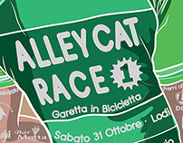 Alley Cat Race Illustrated Poster