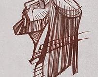 Rostro de Cristo trazo libre / Drawing