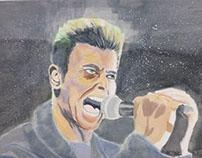 Glazing technique - David Bowie
