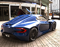 My Concept Car rendered in keyshot
