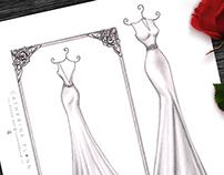 'Emma' - Wedding Dress Illustration