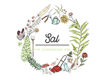 SAL~The Gardening Gal Illustrated Logo Design