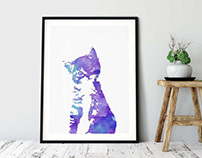 Cat Kitten, Printable Wall Art