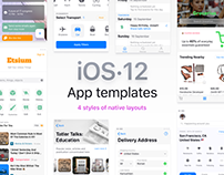 iOS templates library for Figma