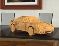 993 Porsche, wood