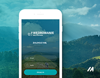 Travel without a backpack - mobile app design