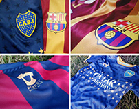 #CrestBasedKits FC Barcelona and Boca Jrs