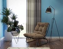 Proposed Master Bedroom Design for a Qatari Client