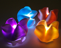 Flower LED Brooch: Production Piece