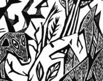 Kalevala (linocut)