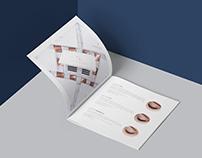 Posh Lashes catalogue layout design