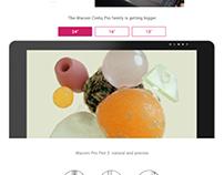 Wacom.com Product page redesign