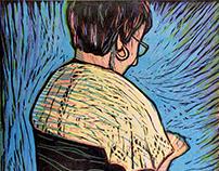 Gravura em Linóleo a 4 cores - Tricot & Friends