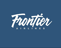 Hand Lettered Logo for Frontier Airlines