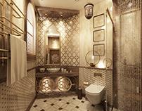 Modern Islamic bathroom, private villa @ Qatar