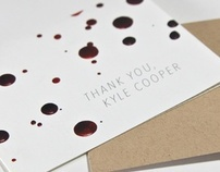 Kyle Cooper thank-you card