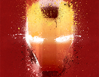 """Iron Man"" inspired 13x19 Inch Print"