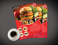Fast food flyer template design