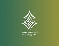 شعار وكامل هوية شركة أركان للتطوير العقاري