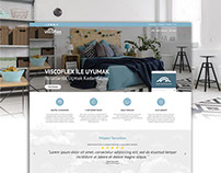 ViscoFlex Mattress Online Shop UI Design & FrontEnd