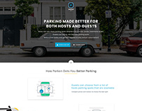 Parken Landing Page Design