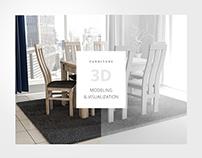 Furniture 3D modeling & visualization