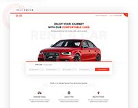Car Rental Landing Page Concept