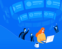 Illustrations for Glorri web platform