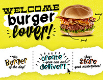 A Concept Design of Website for The Burger Project