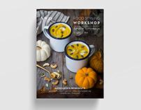 Poster design for Food Styling workshop