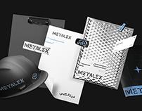 Metalex brand design.