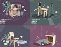 Illustrations for Hammock Magazine