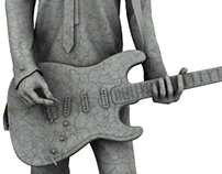 Rockstar Statue