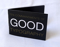 Ten Commandments of Good Typography