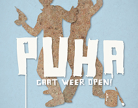 Flyer for the opening of Puha shop