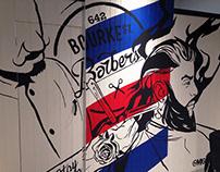 Bourke St Barber Mural Art