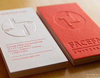 emboss + deboss business card
