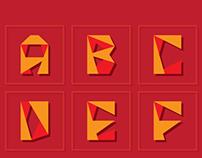 Folding Font