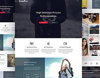 Free Camera Marketing Webpage Design PSD