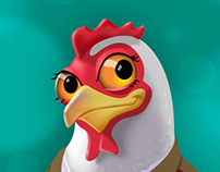 Mascot illustration for poultry product