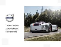 Volvo Vera - autonomous transports landing page design