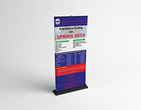 University admission rollup or X Banner Design